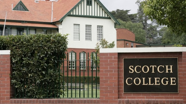 Scotch College in Hawthorn: the school has apologised and paid compensation to Mr Stuart and urged other victims to come forward. Photo:Gary Medlicott GAM