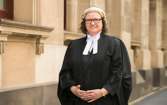 Dr Vivian Waller outside the Supreme Court of Victoria
